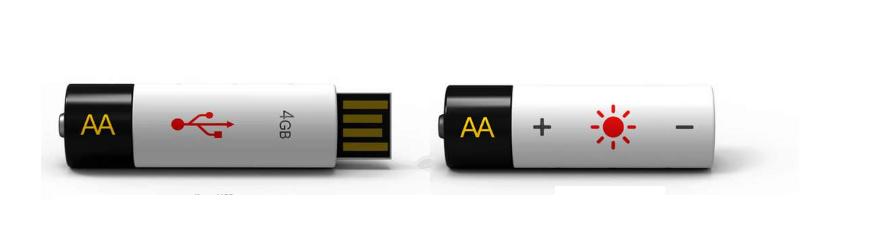 AA Batterie usb-stick