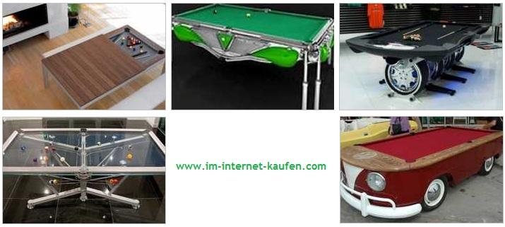 Ungewöhnliche Billiardtische im Internet kaufen